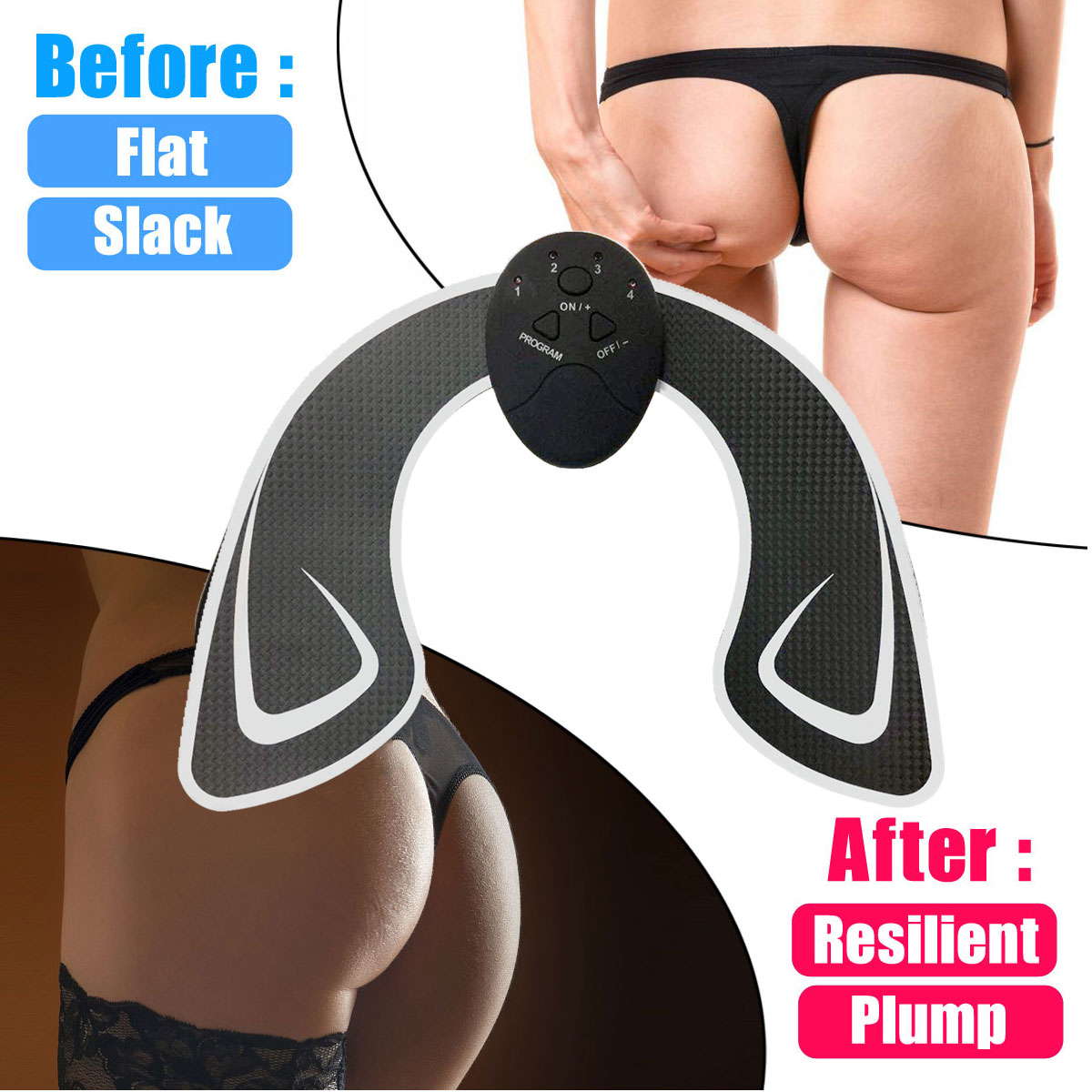 Intelligent Hip Muscle Trainer Buttocks Lift Body Beauty Machine Electric Muscle Trainer FishingReel