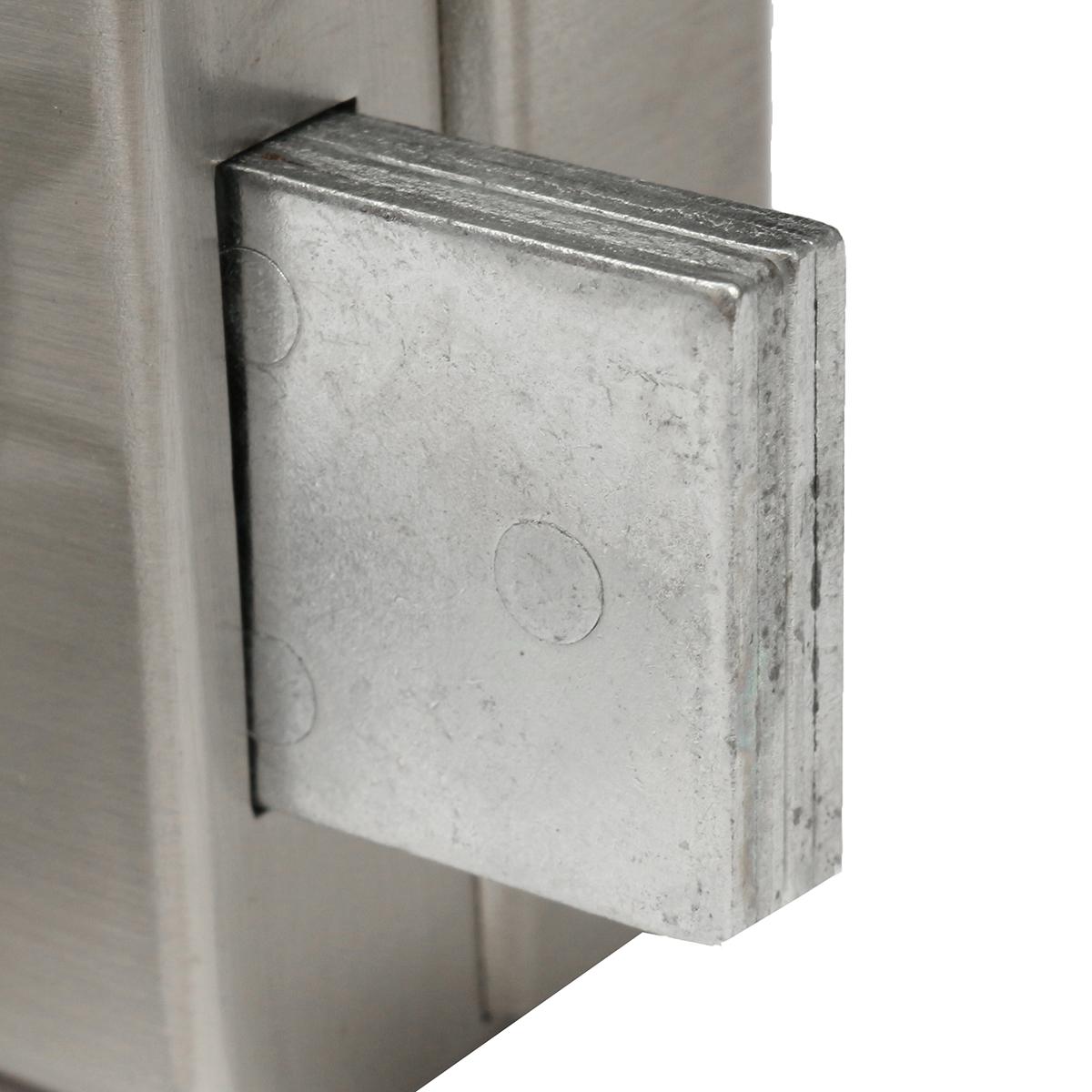 Stainless Steel 12mm Glass Door Lock Double Swing Hinged Frameless Door Lock