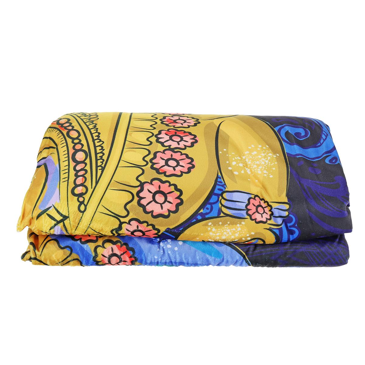 MantasdetiroencapuchadoIndianGanesha Wearable Soft cálido sofá cama cubierta