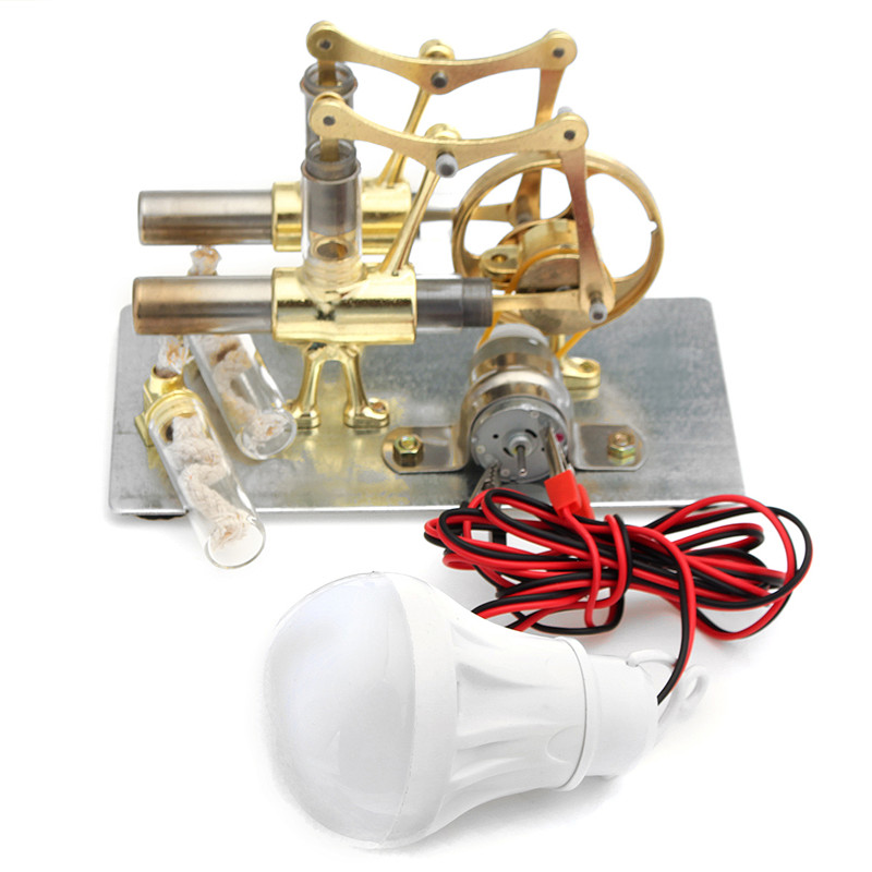 STEM Mini Hot Air Stirling Engine Generator Double Cyli