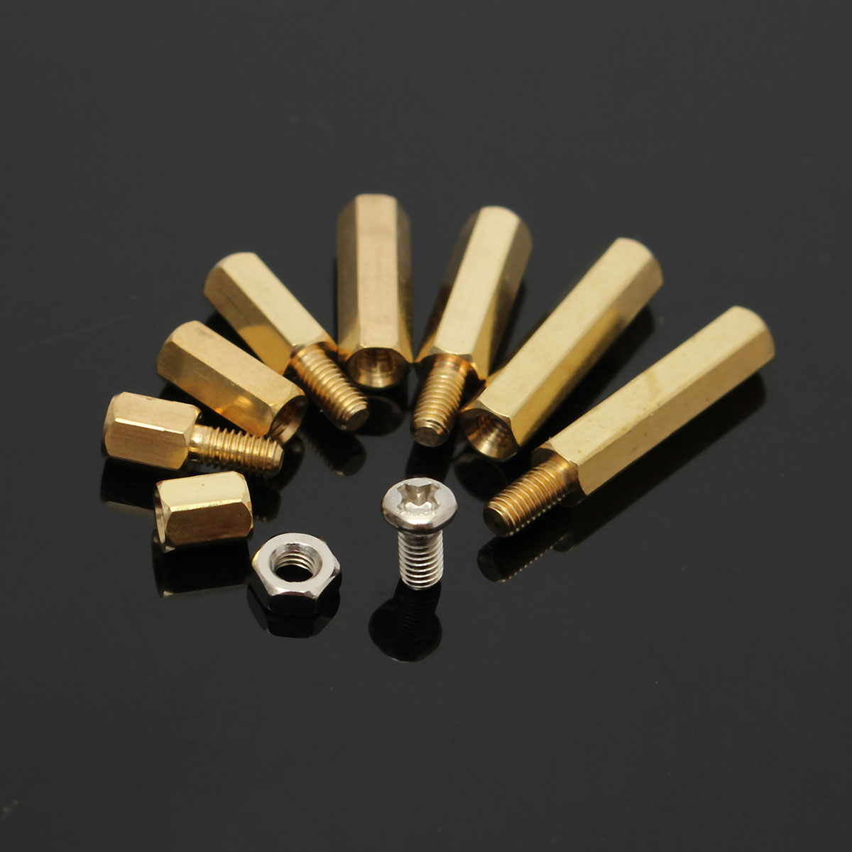 Suleve™ M3BH2 120Pcs M3 Male-Female Brass Hex Column Standoff Support Spacer Pillar For PCB Board