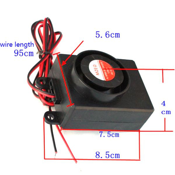 125dB 36-72V Motorcycle Electric Scooter Battery Alarm Anti Theft Electric Car Moped