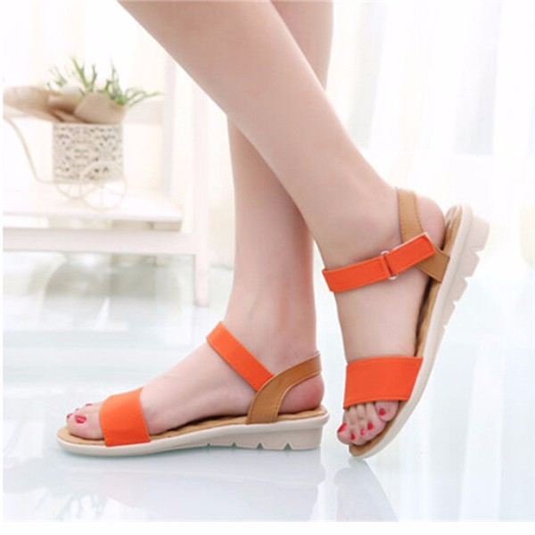 Strap Low Heel Wedges Beach Platforms Sandals