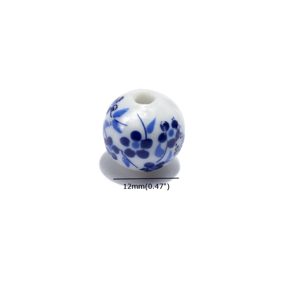 30Pcs 12mm Flower Ceramic Spacer Beads DIY Loose Beads