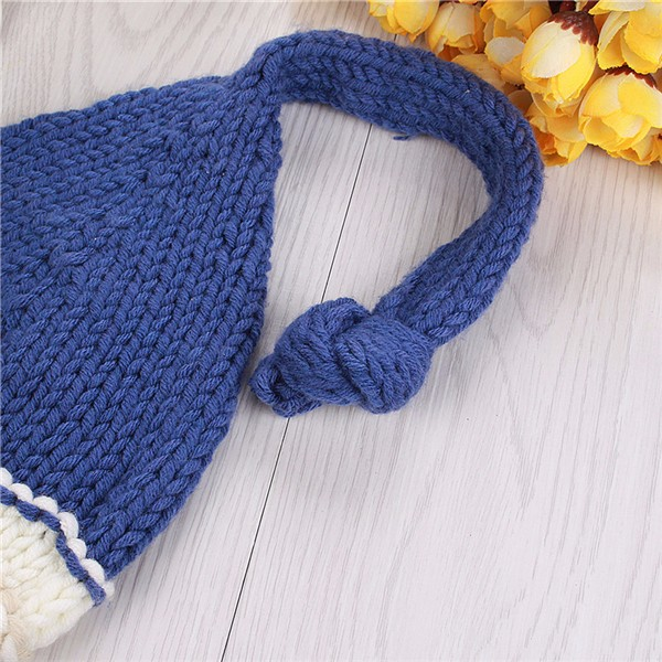 Newborn Baby Girls Boys Crochet Knit Blue Costume Photo Photography Prop Outfits