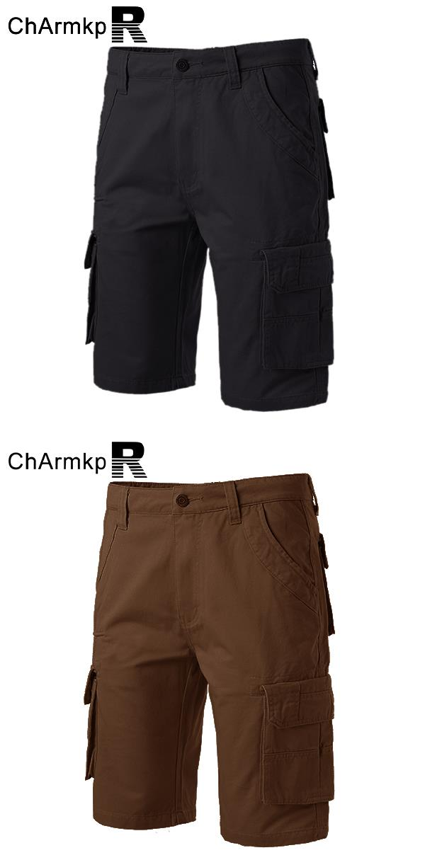 Men's Military Multi Pockets Cargo Cotton Work Shorts Pants