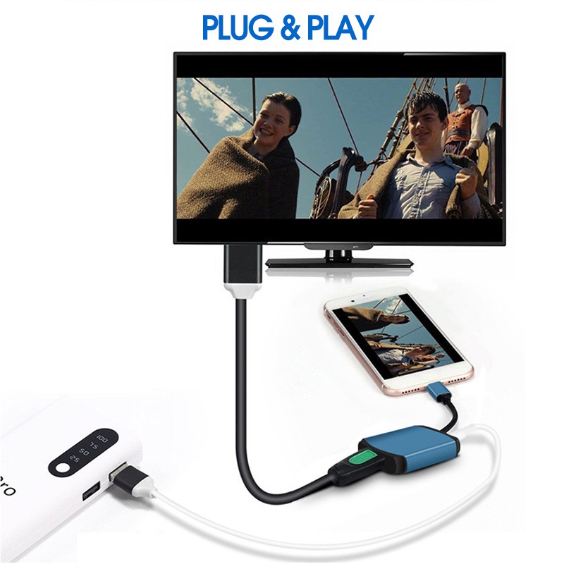 Mirasreen Wired Display Dongle Receiver Full HD 1080P Air play DLNA Mirroring For Projector Smart TV