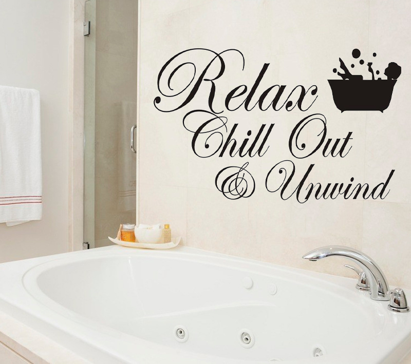Miico 3D Creative PVC Wall Stickers Home Decor Mural Art Removable Special Bath Words Wall Decals