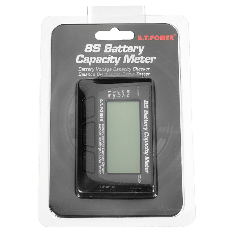G.T.Power 8S Battery Voltage Capacity Checker Balance Discharger Servo Tester