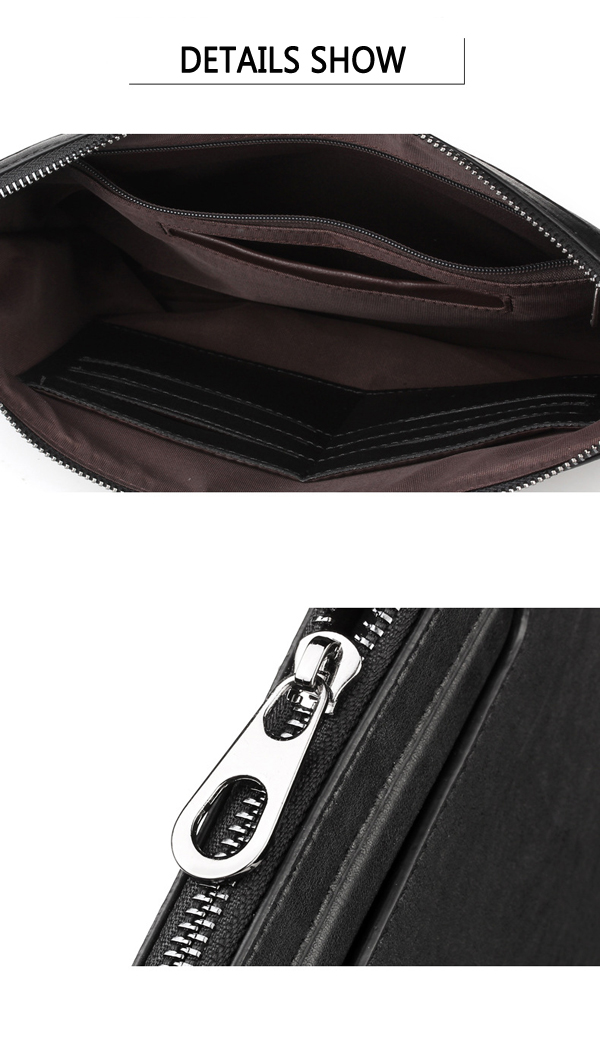 Men Business Casual Cluthes Handbag Envelope Flap Briefcase Clutch Bags for Ipad
