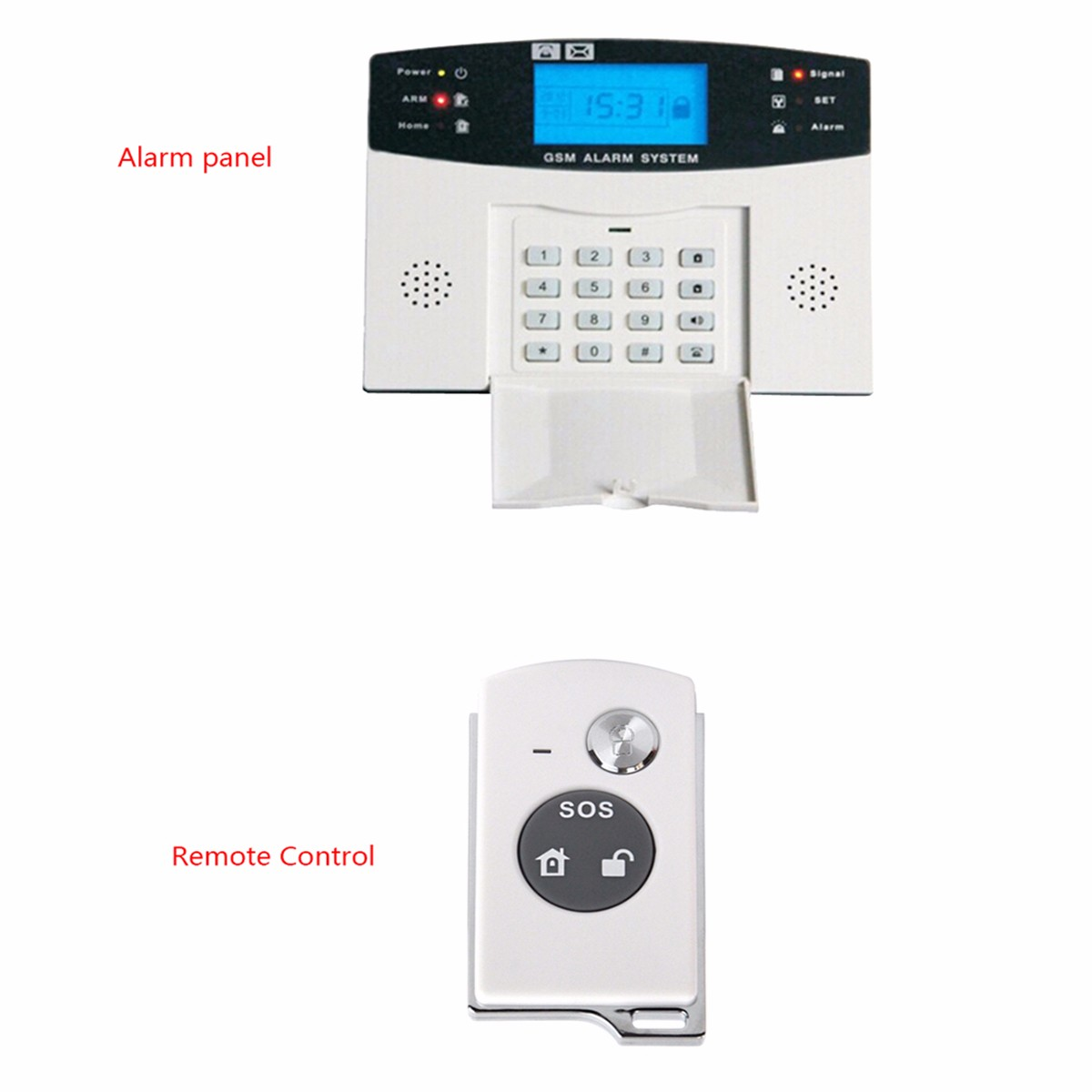 Wireless LCD GSM SMS Home Security Home Fire Alarm System Auto Dialer Sensor