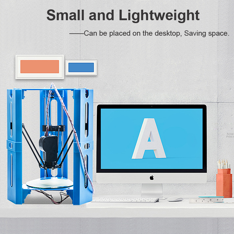 Pre-assembled Desktop Mini DIY 3D Printer 100*100mm Printing Size Support Off-line Print/PLA & TPU Filament with 1.75mm 0.4mm Nozzle/Multi-Color Choose