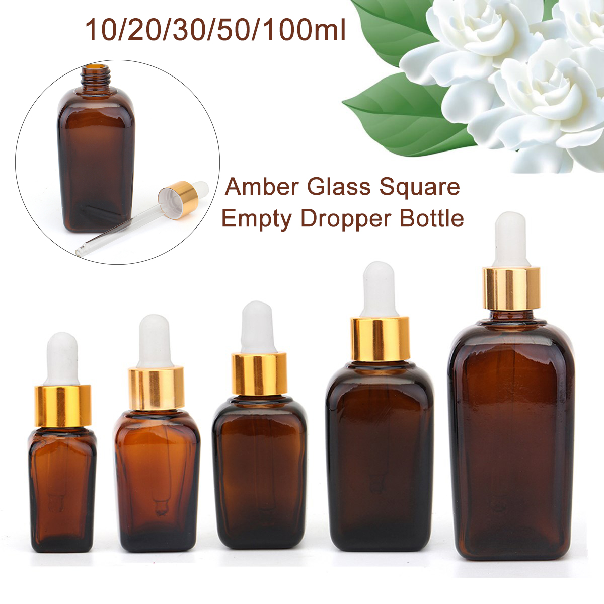 5Pcs Reusable Pipette Perfume Bottles