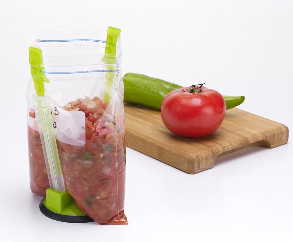 Baggy Bag Rack Sandwich Hand Bag Racks Clip Food Storage Bags Onto Holder Best Opener For Freezer Vagetable&kitchen Tools Packing Bag