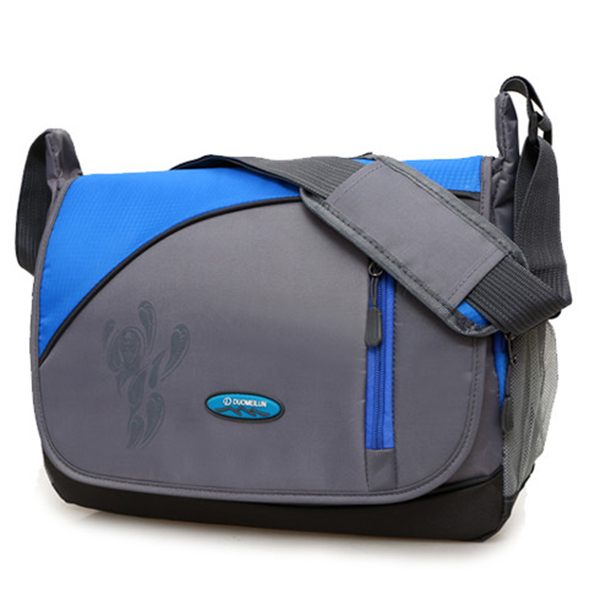 Women Men Nylon Shoulder Bag Messenger Bag Waterproof Daypack
