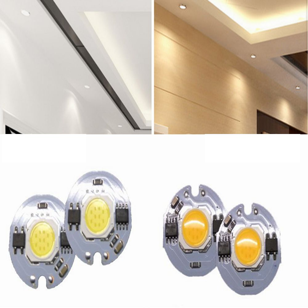 10Pcs 3W/5W/7W/9W White/Warm White COB Led Chip No Need Driver for DIY Bulb Downlight Track Light