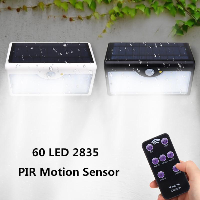 60LED 5 IN 1 Solar Power PIR Motion Sensor Waterproof Light Outdoor Garden Lamp