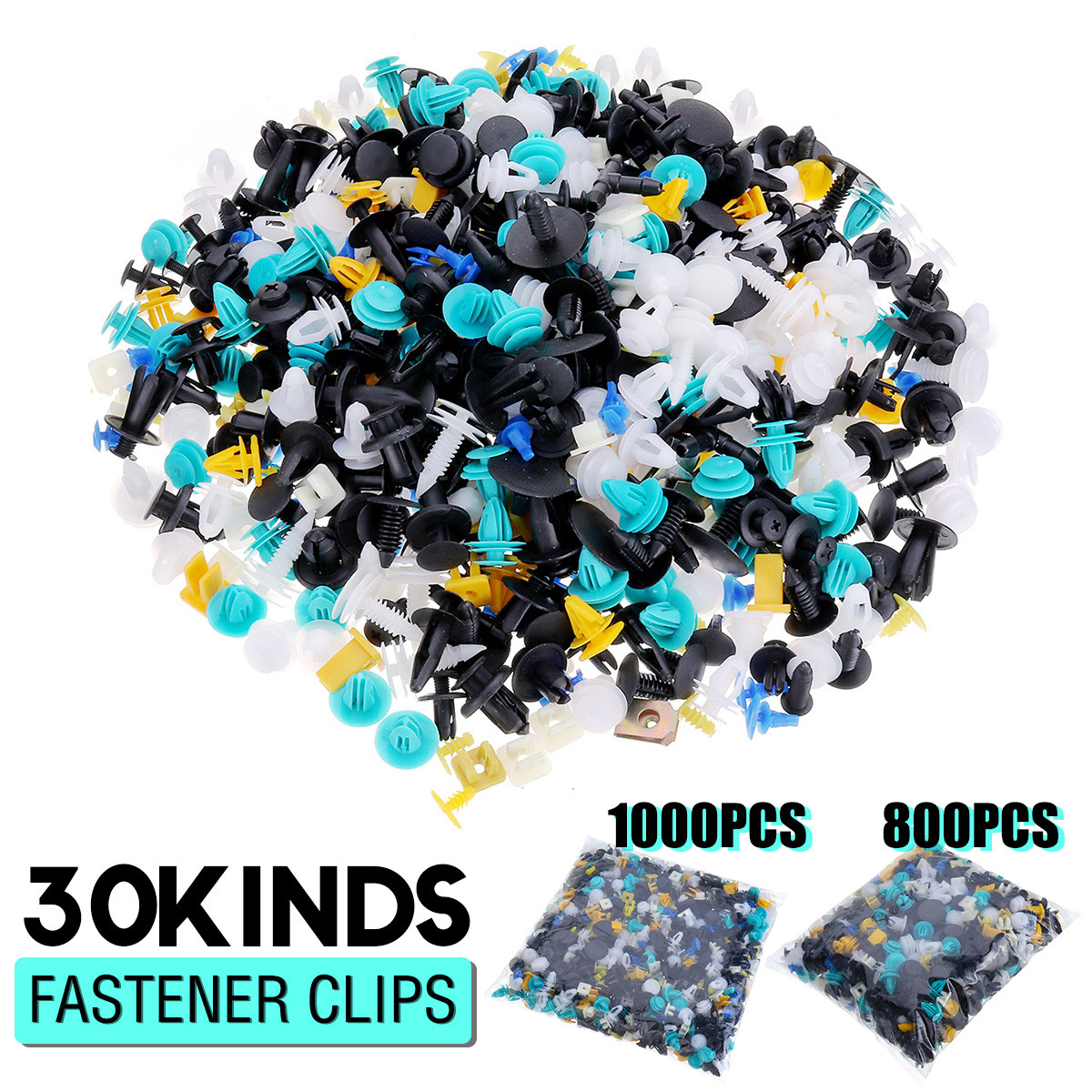 Fastener Clips Rivet Retainer Push Engine Cover 800/1000PCS for Car Bumper Fender Door Trim Panel