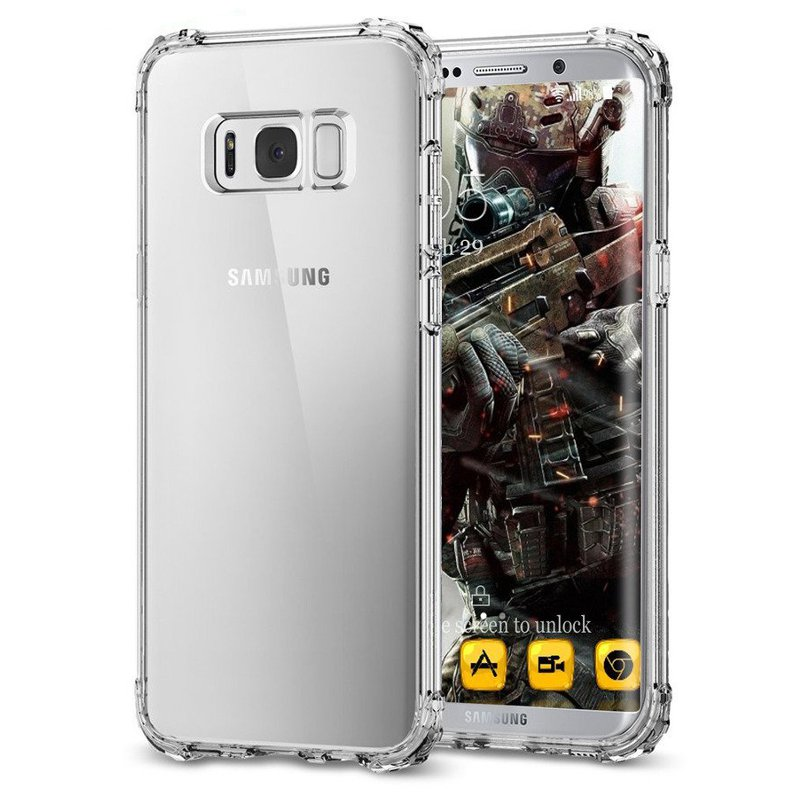 Air Cushion Transparent Soft TPU Case For Samsung Galax