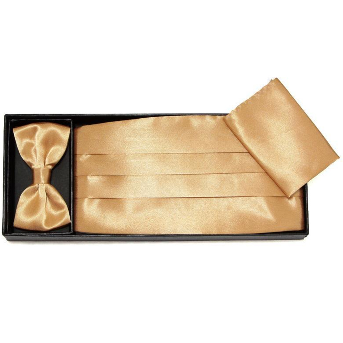 Men Cummerbund Adjustable Bow Tie Hanky Set Wedding Prom Tuxedo Formal Accessories