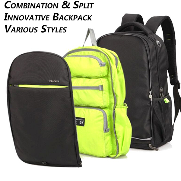 Men Women Polyester Leisure Travel Backpack Multifunctional Light Weight Laptop Bag Mochila