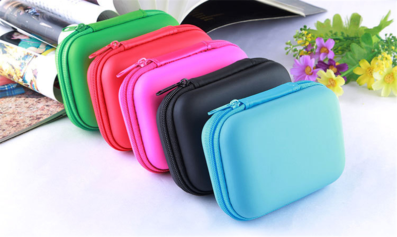 Universal PU Leather Power Bank Earphone Headset Usb Cable Digital Accessories Storage Bag