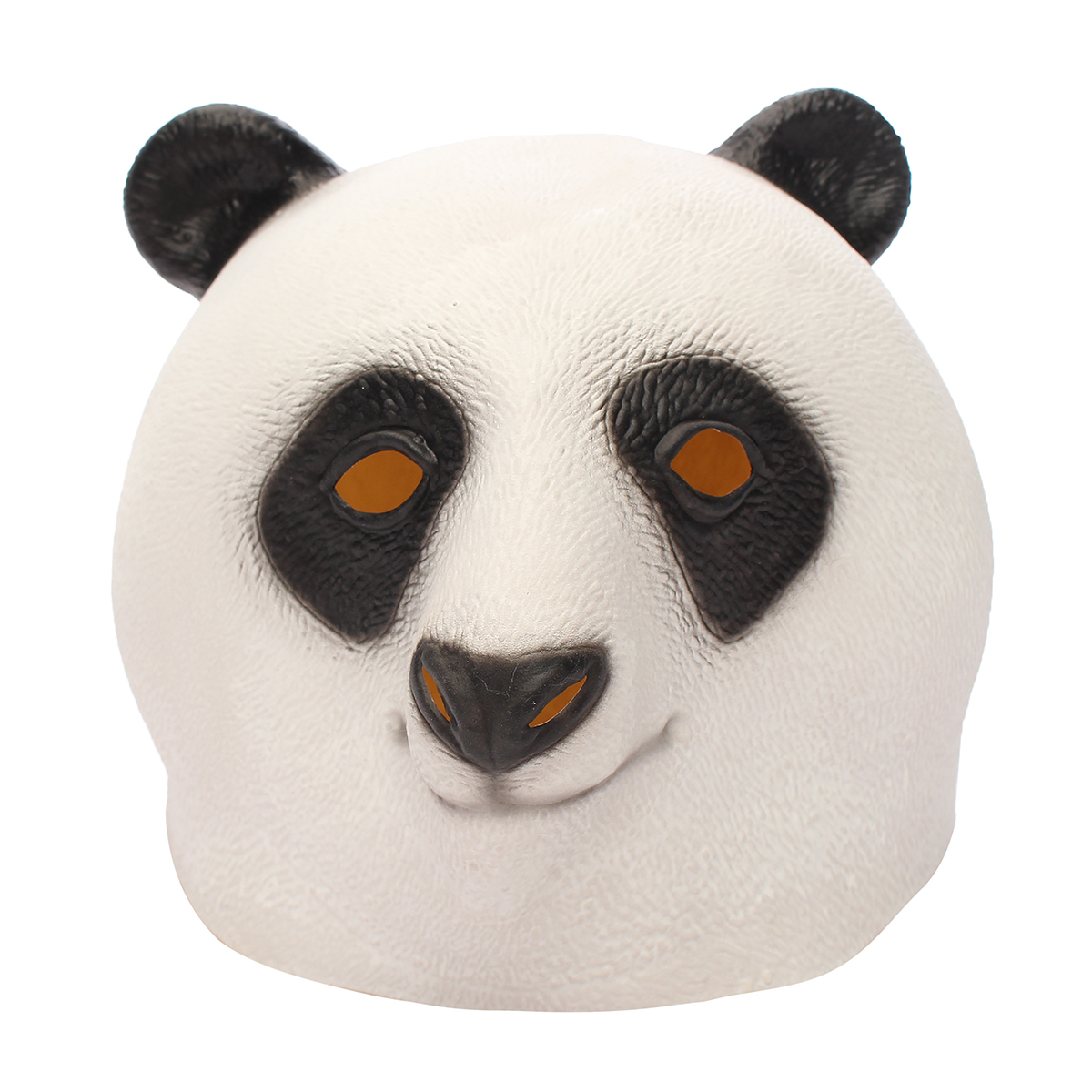 Panda Head Mask Creepy Animal Halloween Costume Theater Prop Latex Party Toy