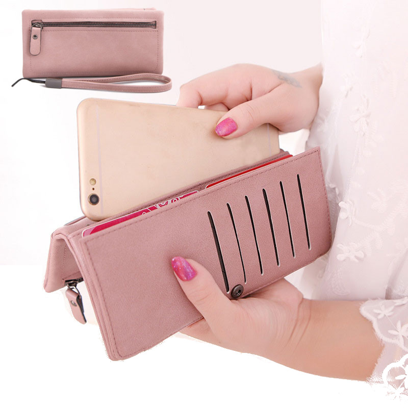 Description: -Material: PU Leather -Size: 19cm x 3cm x 9.5cm -Colors: Black, Blue, Pink -You can put ID card, coin, cards, cash and other small items. -Lightweight, portable and fashionable. Note: Size may be 0.5-1.5cm inaccuracy due to hand measure Packa #purse