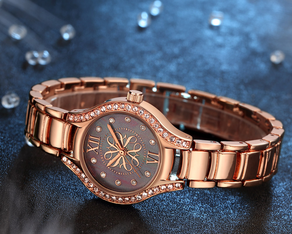 CRRJU 2126 Crystal Diamond Fashion Style Women Watch