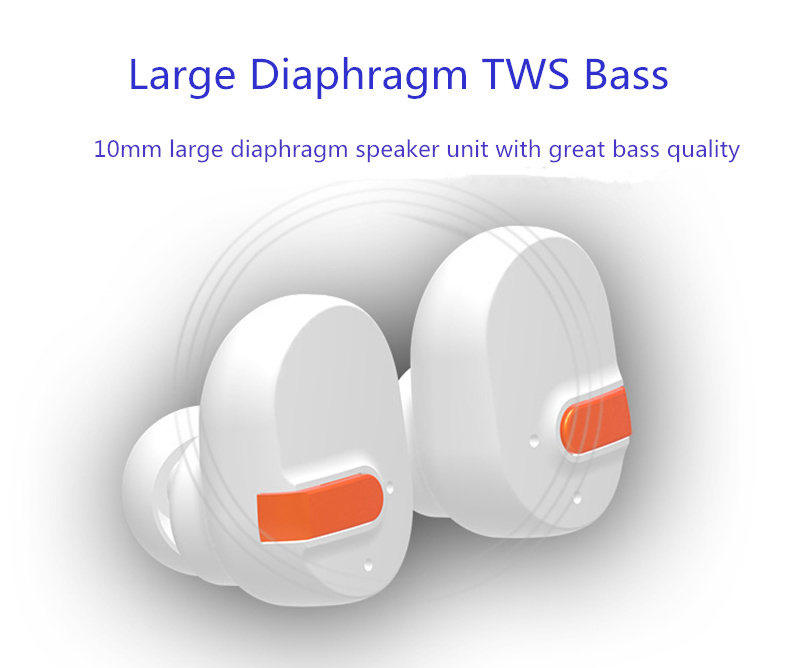[True Wireless] TWS Dual bluetooth Earphones Noise Cancelling Heavy Bass Headphone with Charging Box