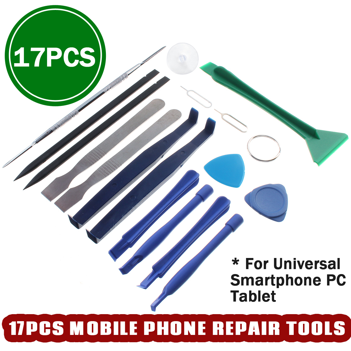 17 In 1 Universal Phone Opening Pry Repair Tools Set Kit for iPhone Smartphone PC Tablet