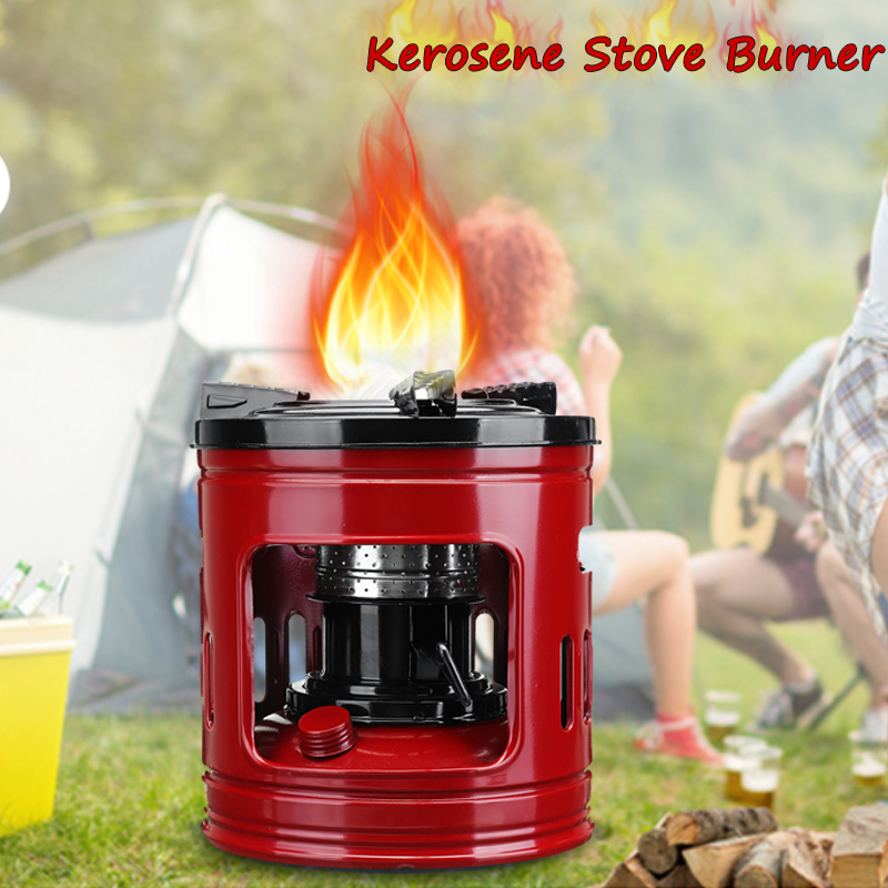 Portable Cooking Stove Outdoor Pocket 8 Wicks Kerosene Stove Burner for Camping Heaters Equipment