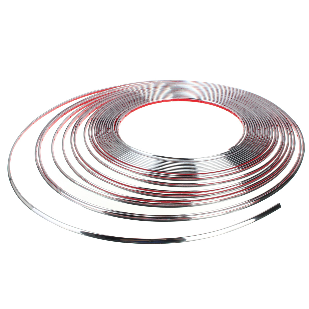 DIY Silver 15M 6mm Car Auto Chrome Moulding Trim Strip For Window Bumper Grille