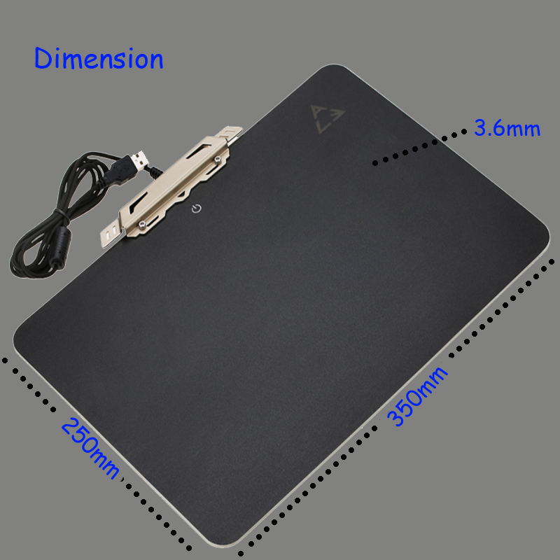 ACE RGB Backlit LED Mats Hard Mouse Pad for Gaming