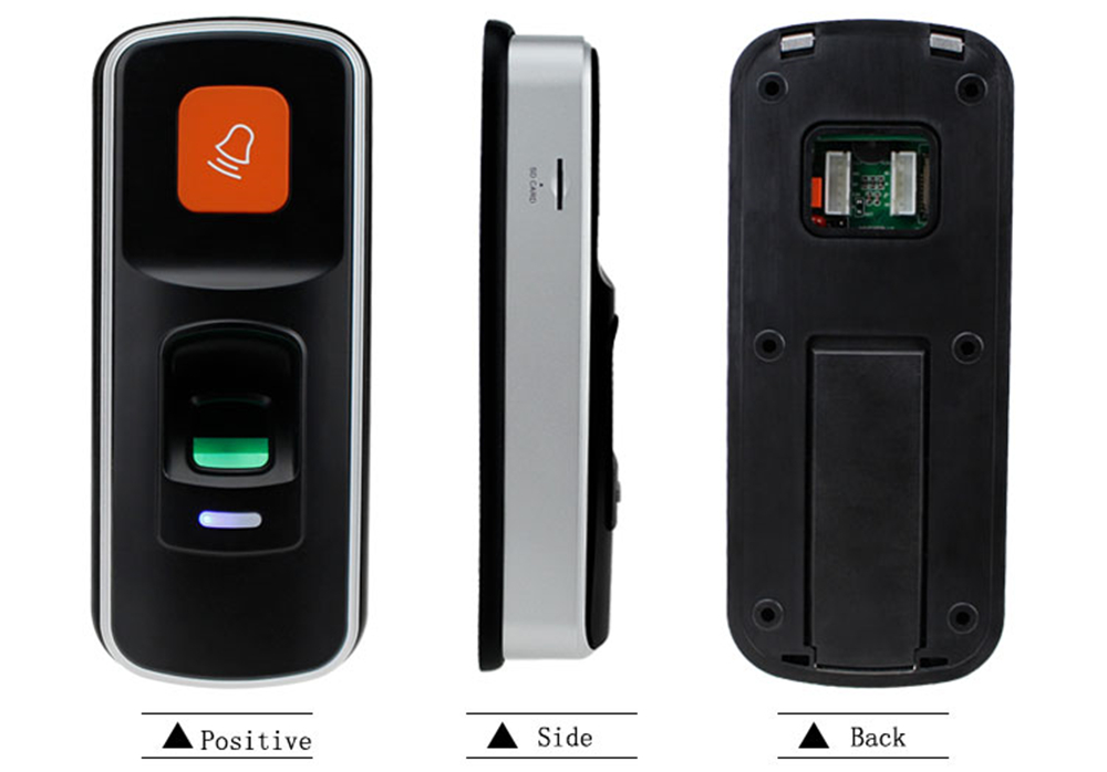 RFID Fingerprint Lock Access Control Reader Biometric Access Controller Door Opener Support SD Card