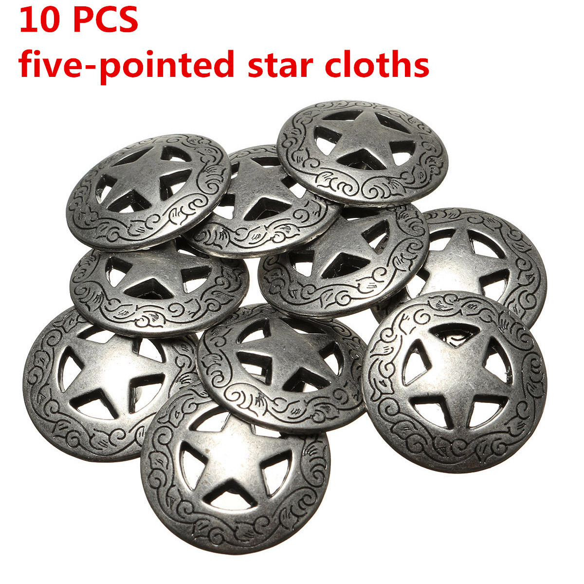 10pcs Conchos Leather Craft Texas Star Saddle Western Rodeo Leather Tack Leathercraft Accessories