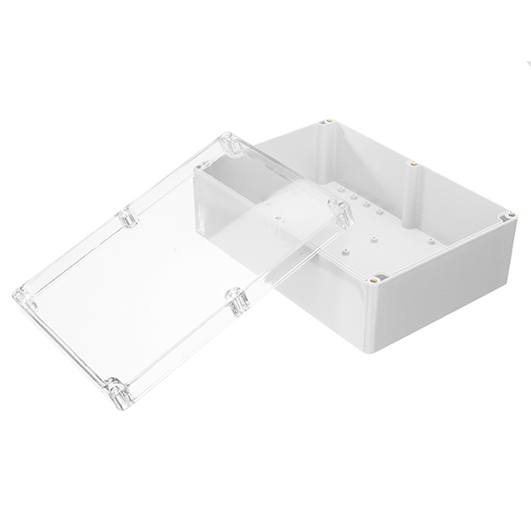 263 x 185 x 95mm DIY Plastic Waterproof Housing Transparent Cover Electronic Junction Case Power Supply Box Sealed Instrument Case