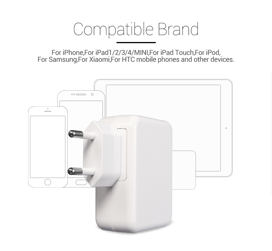 Travel Home Wall 4 USB Port Fast Charging 3.1A Charger iPhone 7 Samsung Huawei Xiaomi EU US Plug