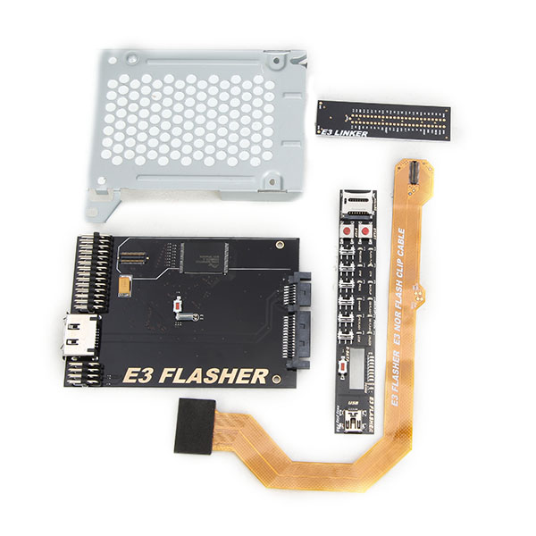 Original E3 Nor Flasher with 4 Parts for PS3 Dual Boot Slim Power Switch-Downgrade from v4.5 to v3.55