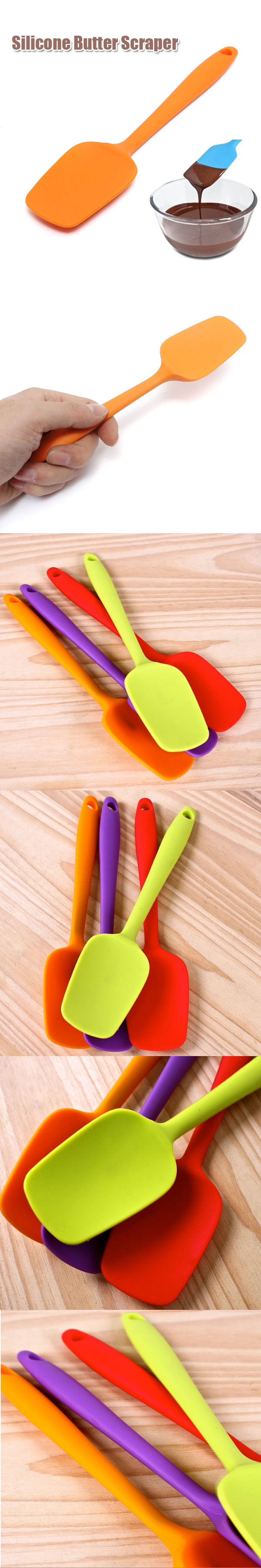 21cm Silicone Baking Cheese Spatula Butter Scraper Chocolate Mixer Cake Baking Tool