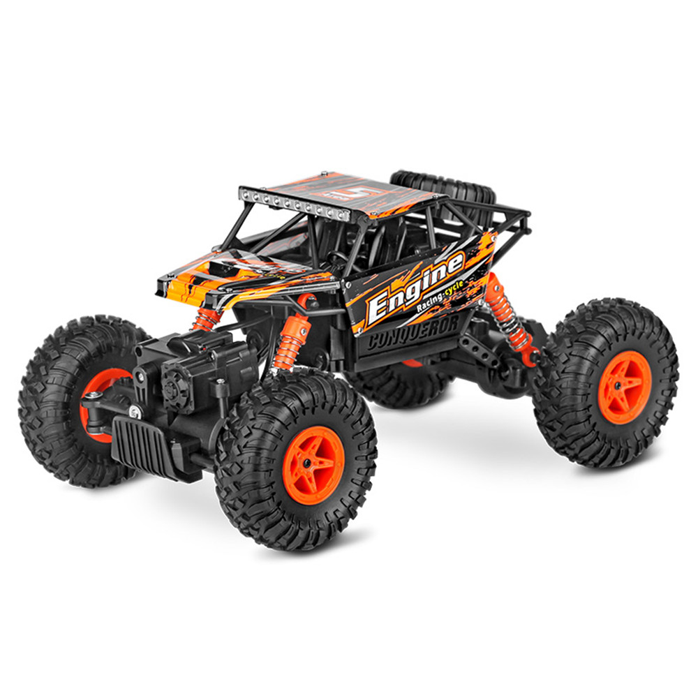 Wltoys 18428-B 1/18 2.4G 4WD Brushed Racing Rc Car Rock Climbing Monster Truck Toys