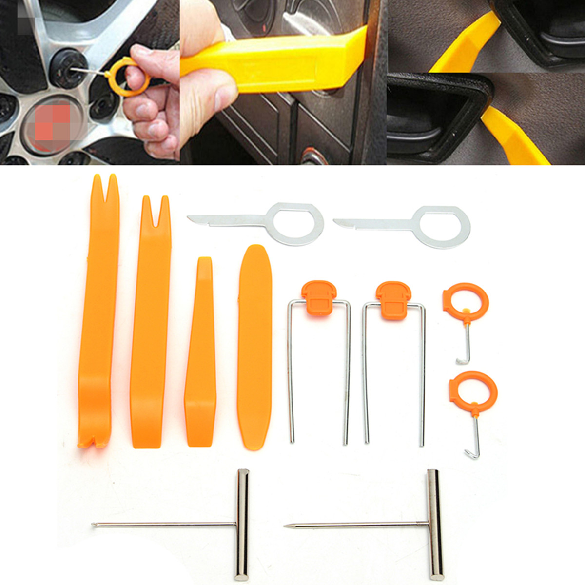12 X Car Audio Stereo Open Pry Tools Removal Kit For Dash Door Radio Trim Panel