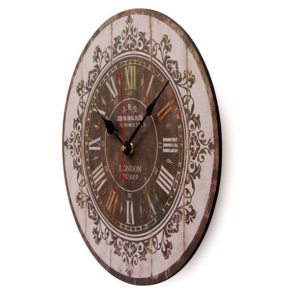 Large Wall Clock Tracery Vintage Rustic Shabby Chic Art Decor