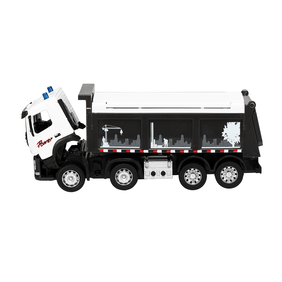 Engineering Car Sound & Light 1:50 Scale Diecast Model Dump Truck Toy