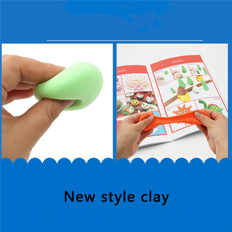 12 Bright Colors Carton Installed Super Light Hand Clay Slim Educational Toys