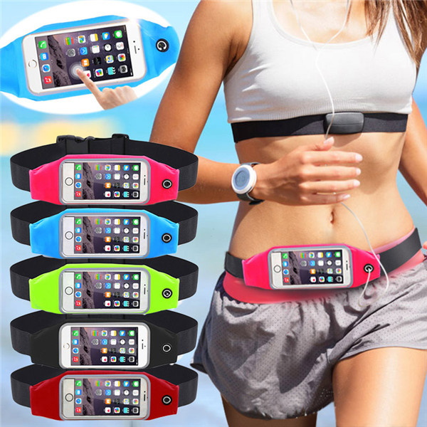 Universal Waterproof Waist Phone Bag Case Sport GYM Out