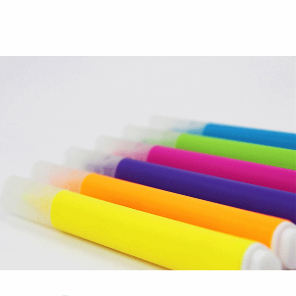6pcs/set Cute Printing Highlighter Pens 6 Colors Marker Pen Office Stationery Supply Signing Drawing