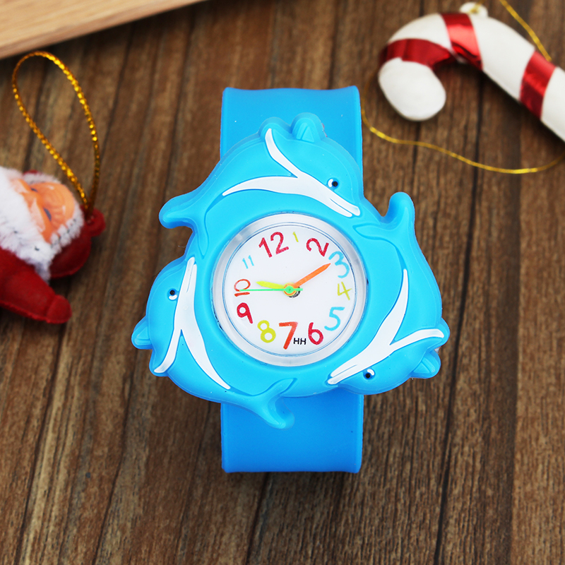 3D Cartoon Rotating Watch Basketball Dolphin Design Watch