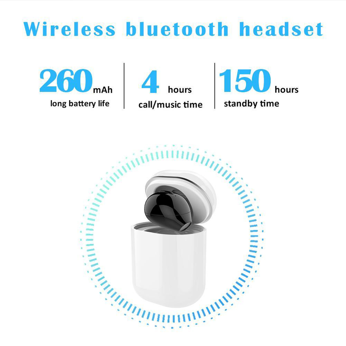 X20 Single Wireless bluetooth Earphone Magnetic Quick Charging DSP Noise Cancelling Earbuds with Mic