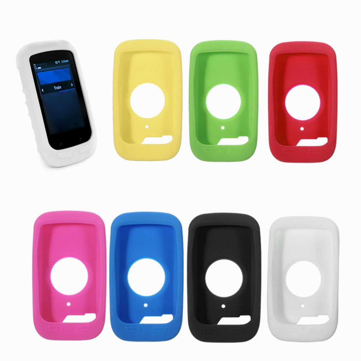 Silicone Gel Skin Case Cover For Garmin Edge 1000 GPS Cycling Computer and Sticker